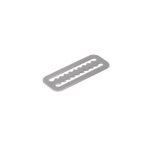 Fermapiombo inox dentato
